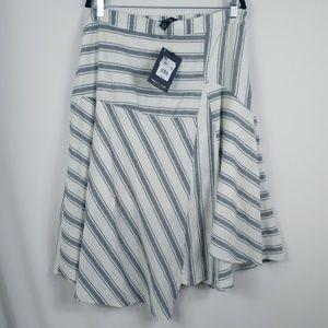 Who What Wear Skirt Striped Asymmetrical